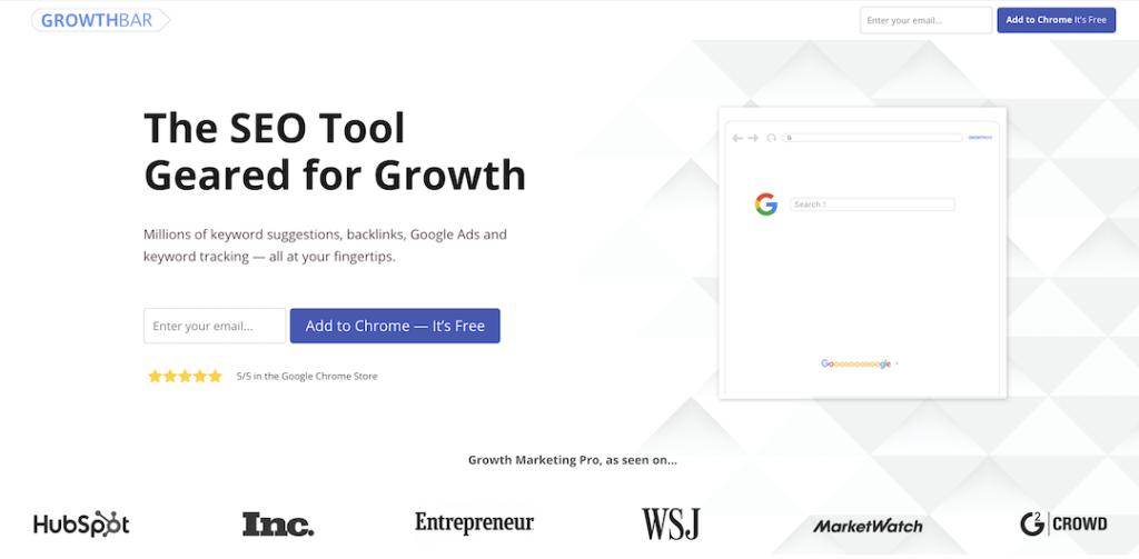 Growth Bar - Best SEO & Keyword Research Tool for Beginner Bloggers